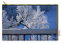 Carry-all Pouch featuring the photograph Amazing - Winterwonderland In Switzerland by Susanne Van Hulst