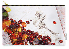 Carry-all Pouch featuring the photograph Amber #8925 by Andrey  Godyaykin
