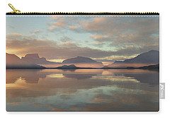 Carry-all Pouch featuring the digital art Salmon Lake Sunrise by Mark Greenberg
