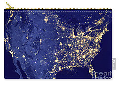 Carry-all Pouch featuring the photograph America By Night by Delphimages Photo Creations