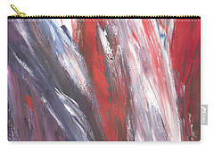 Red, White And Blue Carry-all Pouch by Karen Nicholson
