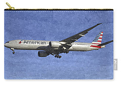 American Airlines Boeing 777 Aircraft Art Carry-all Pouch