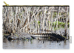 Carry-all Pouch featuring the photograph American Alligator by Gary Wightman