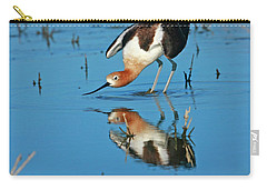 Carry-all Pouch featuring the photograph American Avocet Reflection by John F Tsumas