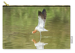 American Avocet Stretching Carry-all Pouch by Tam Ryan
