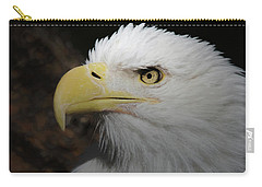 Carry-all Pouch featuring the digital art American Bald Eagle Portrait 2 by Ernie Echols