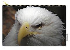 American Bald Eagle Portrait 3 Carry-all Pouch by Ernie Echols