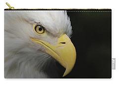 American Bald Eagle Portrait 4 Carry-all Pouch by Ernie Echols