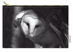 American Barn Owl Monochrome Carry-all Pouch