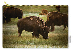 American Bison Grazing Carry-all Pouch