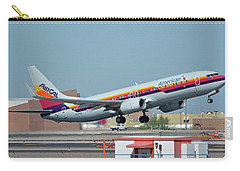 American Boeing 737-823 N917nn Aircal Heritage Phoenix Sky Harbor October 14 2017 Carry-all Pouch