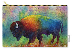 American Buffalo 6 Carry-all Pouch by Hailey E Herrera