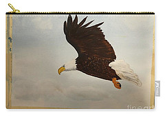 Carry-all Pouch featuring the painting American Eagle by Donald Paczynski
