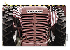 Carry-all Pouch featuring the photograph American Farmall Head On by Meagan  Visser