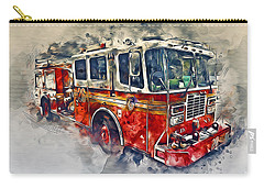 American Fire Truck Carry-all Pouch