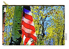 American Flag A Veteran Hunters Homage Carry-all Pouch