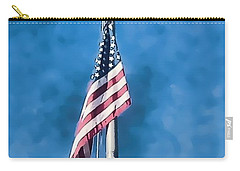 American Flag 'painted' Carry-all Pouch