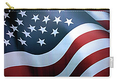 American Flag Carry-all Pouch by Kristin Elmquist