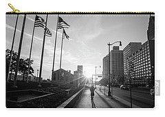 American Flags Detroit Black And White  Carry-all Pouch