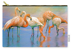 American Flamingos Carry-all Pouch by Brian Tarr