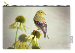 American Goldfinch On Coneflower Carry-all Pouch