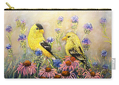 American Goldfinch Pair Carry-all Pouch