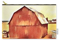 Carry-all Pouch featuring the painting American Gothic Red Barn by Dan Sproul