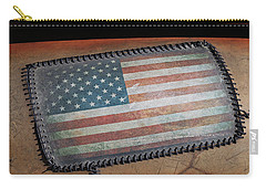 Carry-all Pouch featuring the photograph American Leather by Christopher McKenzie