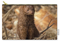 Carry-all Pouch featuring the photograph American Mink At Johnson Park by Ricky L Jones