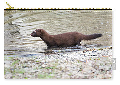 Carry-all Pouch featuring the photograph American Mink by Ricky L Jones