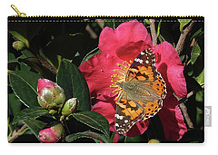 American Painted Lady On Camelia Carry-all Pouch