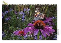 American Painted Lady On Cone Flower Carry-all Pouch
