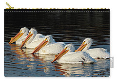 Carry-all Pouch featuring the photograph American Pelicans - 01 by Rob Graham