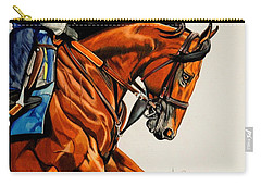 American Pharoah - Triple Crown Winner In White Carry-all Pouch by Cheryl Poland