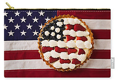 American Pie On American Flag  Carry-all Pouch by Garry Gay