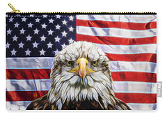 Carry-all Pouch featuring the photograph American Pride by Scott Carruthers