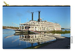 American Queen Steamboat Reflections On The Mississippi River Carry-all Pouch