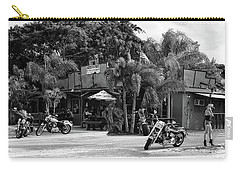 Carry-all Pouch featuring the photograph American Roadhouse Bw by Laura Fasulo