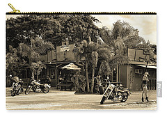 Carry-all Pouch featuring the photograph American Roadhouse Sepia by Laura Fasulo