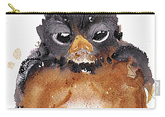 Carry-all Pouch featuring the painting American Robin by Dawn Derman