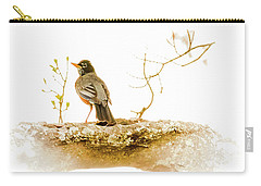 American Robin In Spring Carry-all Pouch