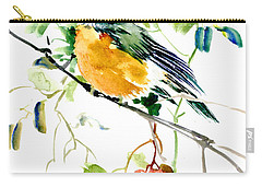 American Robin Carry-all Pouch by Suren Nersisyan
