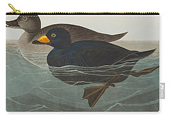 American Scoter Duck Carry-all Pouch by John James Audubon