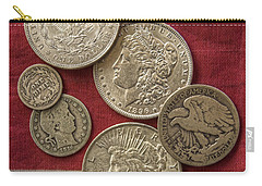 American Silver Coins Carry-all Pouch by Randy Steele