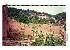 Carry-all Pouch featuring the mixed media American Southwest II by Desiree Paquette