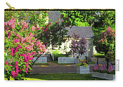 Carry-all Pouch featuring the painting American Suburbia by Desiree Paquette