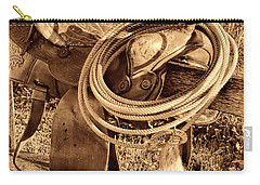 American West Legend Rodeo Western Lasso On Saddle Carry-all Pouch by American West Legend By Olivier Le Queinec