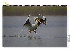 American White Pelican Da 2 Carry-all Pouch by Ernie Echols
