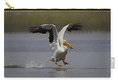 American White Pelican Da 3 Carry-all Pouch by Ernie Echols