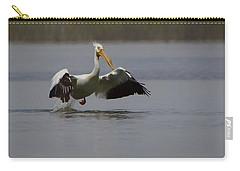 American White Pelican Da Carry-all Pouch by Ernie Echols